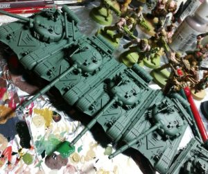 Tanks with Field Gray painted
